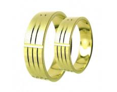 Snubní prsteny Lucie Gold Charlotte S-219, materiál zlaté zlato 585/1000, váha: průměrná 8.50g