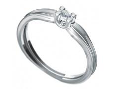 Zásnubní prsten Dianka 811, materiál bílé zlato 585/1000, zirkon 3.0mm, váha: u velikosti 54mm - 1.7