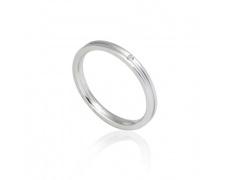 Ocelový prsten s briliantem GRSD27-BRIL