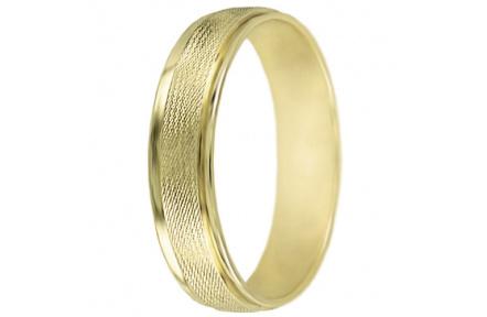 Snubní prsteny kolekce A19, materiál žluté zlato 585/1000 , váha: u velikosti 54mm - 3.30g