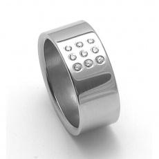 Dámský ocelový snubní prsten RZ08001