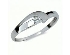 Briliantový prsten Danfil DF1779, materiál bílé zlato 585/1000, 1x briliant SI1/G = 0.072 ct, váha: