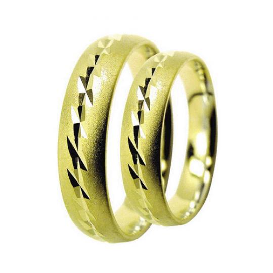 Snubní prsteny Lucie Gold Charlotte S-165, materiál žluté zlato 585/1000, váha: průměrná 8.00g