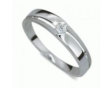 Briliantový prsten Danfil DF1660, materiál bílé zlato 585/1000, 1x briliant SI1/G = 0.061 ct, váha:
