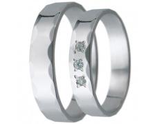 Snubní prsteny kolekce D16, materiál bílé zlato 585/1000, zirkon , váha: u velikosti 54mm - 3.00g