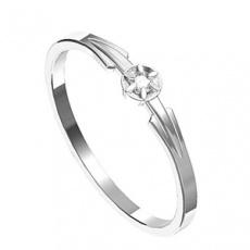 Zásnubní prsten s briliantem Leonka  011, materiál bílé zlato 585/1000, briliant SI1/G - 2.0 mm, váh