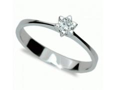 Briliantový prsten Danfil DF1953, materiál bílé zlato 585/1000, 1x briliant SI1/G = 0.170 ct, váha: