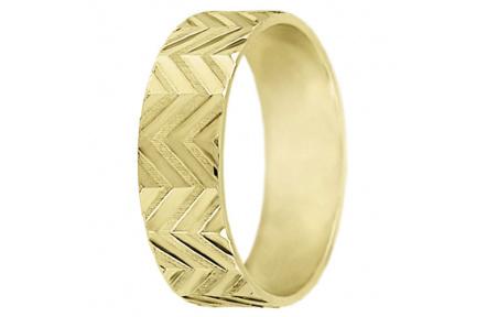 Snubní prsteny kolekce A6, materiál žluté zlato 585/1000 , váha: u velikosti 54mm - 4.50g