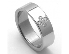Dámský ocelový snubní prsten RZ06054