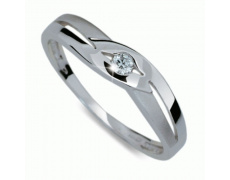 Briliantový prsten Danfil DF1776, materiál bílé zlato 585/1000, 1x briliant SI1/G = 0.048 ct, váha: