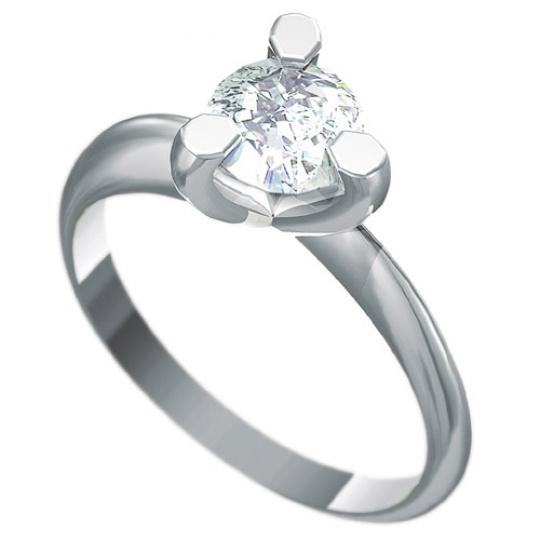 Zásnubní prsten Dianka 817, materiál bílé zlato 585/1000, zirkon 6.0mm, váha: u velikosti 54mm - 2.9