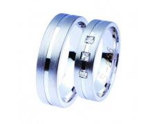 Snubní prsteny Lucie Gold Charlotte S-256, materiál bílé zlato 585/1000, zirkon, váha: průměrná 11.2
