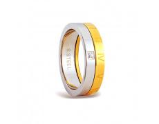 Ocelový prsten se zirkonem RSM02