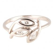 Zlatý Prsten Soliter 224 00378 07, materiál bílé zlato 585/1000, 3x briliant = 0.096 ct, váha: 1.60g