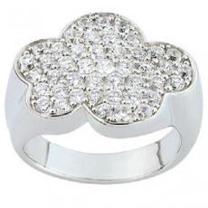 Stříbrný prsten Cacharel CSR133Z, materiál stříbro 925/1000, zirkon, váha: 7.80g