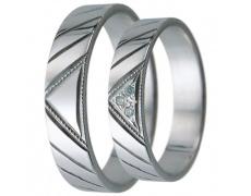 Snubní prsteny kolekce D11, materiál bílé zlato 585/1000, zirkon , váha: u velikosti 54mm - 3.10g