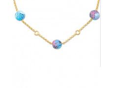 Zlatý náhrdelník Cacharel XA505JMU, materiál žluté zlato 585/1000, Muránské sklo, váha: 4.10g