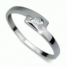 Briliantový prsten Danfil DF1284, materiál bílé zlato 585/1000, 1x briliant SI1/G = 0.045 ct, váha:
