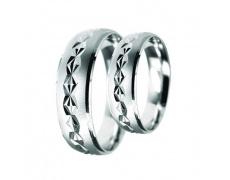 Snubní prsteny Lucie Gold Charlotte S_164, materiál bílé zlato 585/1000, váha: průměrná 8.00g