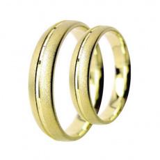 Snubní prsteny Lucie Gold Charlotte S-130, materiál žluté zlato 585/1000, váha: průměrná 7.00g