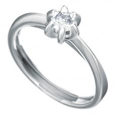Zásnubní prsten s briliantem Dianka 812, materiál bílé zlato 585/1000, briliant SI1/G 4.00mm, váha: