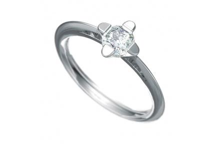 Zásnubní prsten s briliantem Dianka 802, materiál bílé zlato 585/1000, briliant SI1/G 5.00mm, váha: