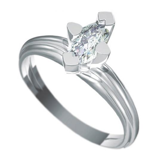 Zásnubní prsten Dianka 818, materiál bílé zlato 585/1000, zirkon špicovál 8x4mm, váha: u velikosti 5
