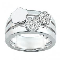 Stříbrný prsten Cacharel CSR003Z, materiál stříbro 925/1000, zirkon, váha: 8.30g