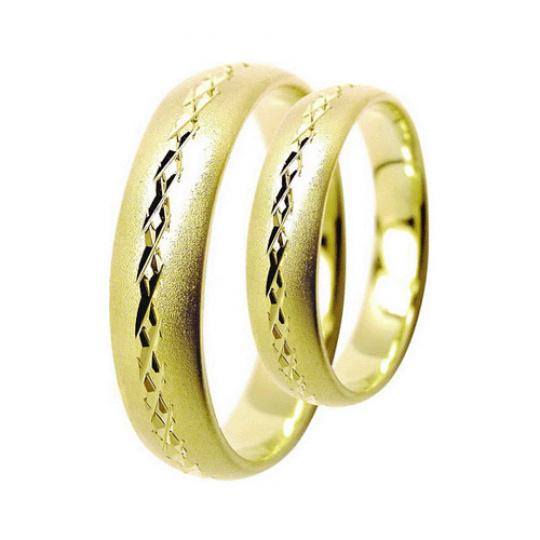 Snubní prsteny Lucie Gold Charlotte S-168, materiál žluté zlato 585/1000, váha: průměrná 7.00g